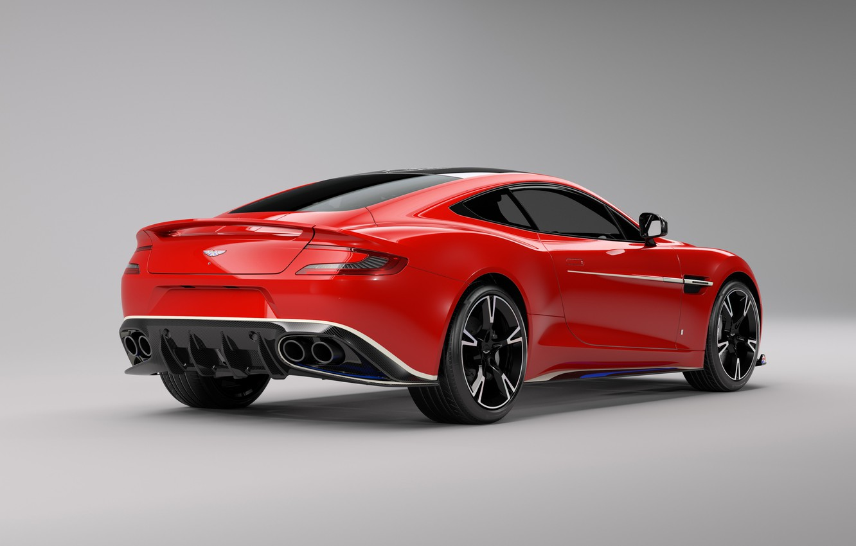 Photo wallpaper car, Aston Martin, red, logo, wings, Arrow, Aston Martin Vanquish S Red Arrows Edition