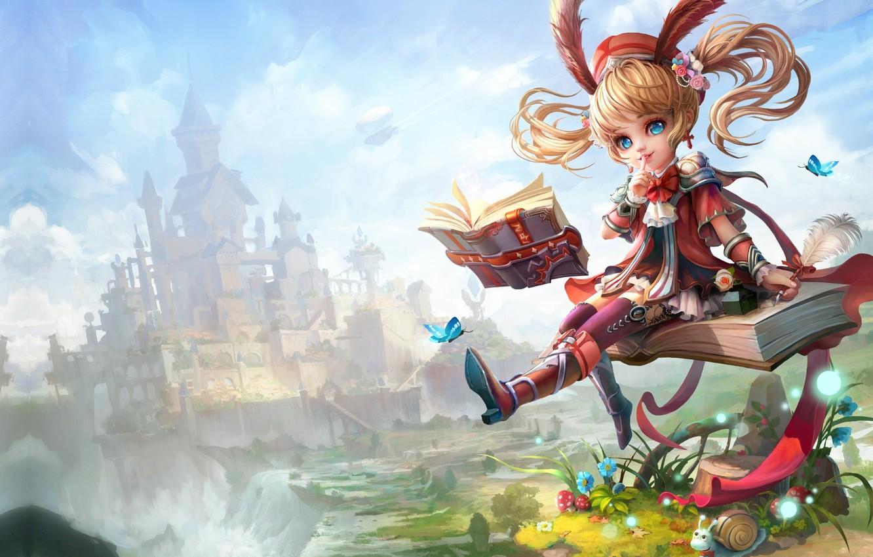 Photo wallpaper castle, magic, MMORPG, art. the game, Immortals Fantasy