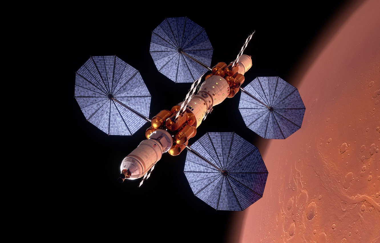 Photo wallpaper space, flight, Mars, experimental apparatus, The base camp of Mars