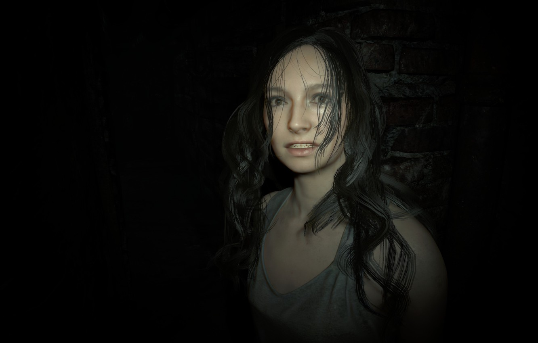Photo wallpaper girl, game, long hair, woman, Mia, Resident Evil, brunette, Capcom, fear, Biohazard, official wallpaper, terror, …