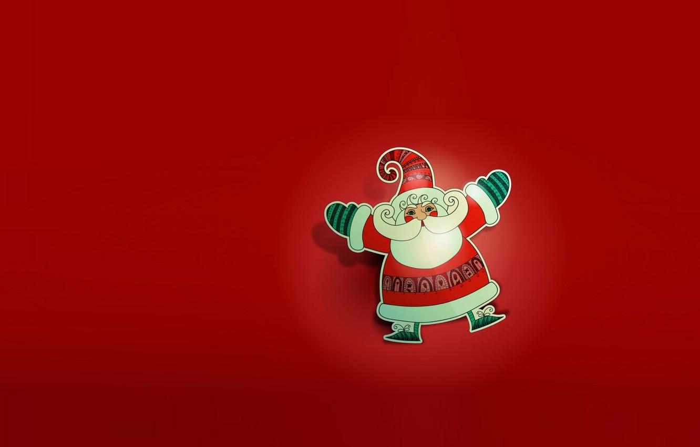 Photo wallpaper holiday, new year, vector, art, Santa Claus, children's