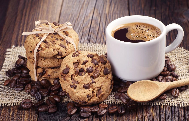 Photo wallpaper coffee, chocolate, cookies, chocolate, coffee, cookie