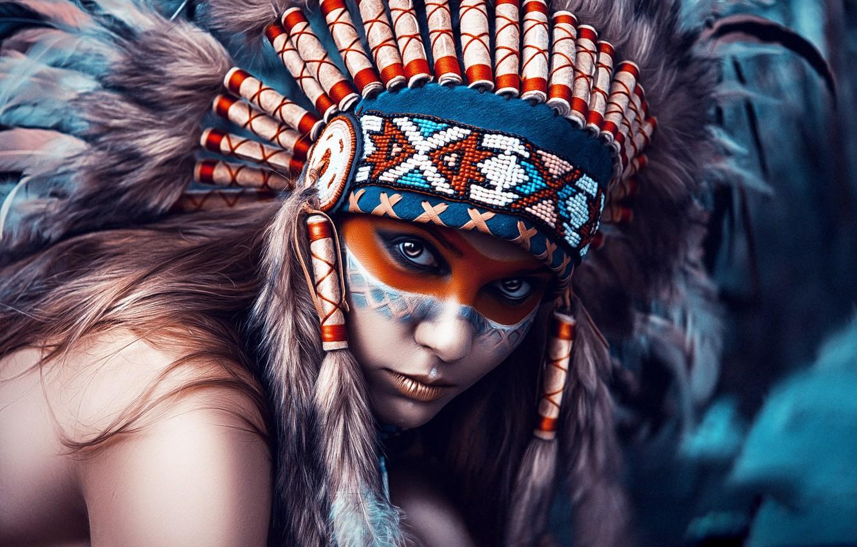 Photo wallpaper girl, style, portrait, photographer, The Indians, Art, Dmitry Arhar