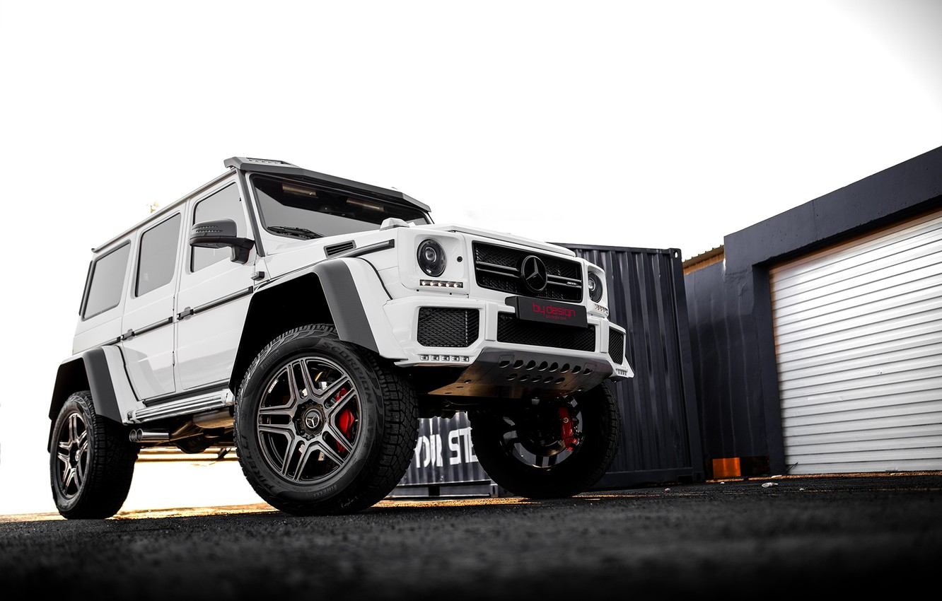 Photo wallpaper white, mercedes, g63, by-design