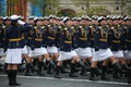 Picture parade, girls, March, May 9, cadets, red square, victory day, holiday