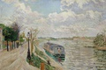 Picture the city, river, landscape, Paul Signac, picture, Saint Ouen. Promenade