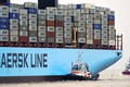 Picture Sea, Board, A container ship, Two, Container, Maersk, Maersk Line, Tug