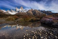 Picture stones, rocks, mountains, Patagonia, water, morning