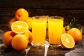 Picture citrus, oranges, juice, glasses, orange, fruit