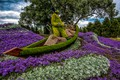 Picture design, Canada, fisherman, Ottawa, composition, trees, Lobelia, Park, boat, flowers