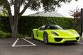 Picture Porsche, Green, Spyder, 918, Parking