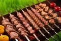 Picture vegetables, grill, kebab, meat