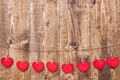 Picture love, hearts, red, love, wood, romantic, hearts