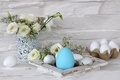 Picture roses, bouquet, Easter, Easter eggs, decor, Easter, Easter eggs, jubilee