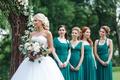 Picture friend, beautiful, summer, joy, wedding, bouquet, girl, dress, hairstyle, bride, dress, decoration, the bride