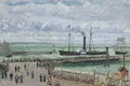 Picture Camille Pissarro, sail, landscape, steamer, ship, picture, The entrance to the Port of Le Havre. ...