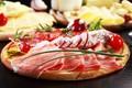 Picture cheese, blur, sausage, Board, ham