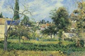 Picture Camille Pissarro, landscape, picture, The Garden Of The Abbey Of Maubuisson. PONTOISE
