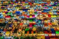 Picture light, night, the city, lights, Asia, market, tents