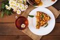 Picture flowers, tea, chamomile, Pie