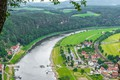 Picture Panorama, The city, Panorama, The Elbe River, Elba river, Germany, Germany, River