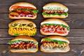 Picture bun, hot dog, sausage, sausage
