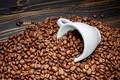 Picture Cup, white, grain, coffee