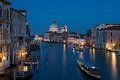 Picture Venice, Italy, night, channel, Cathedral, lights