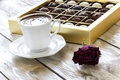 Picture candy, rose, coffee, rose, flower, coffee, sweet, candy