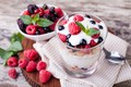 Picture berries, dessert, cereal, yogurt