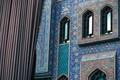 Picture light, wall, flower, design, blue, window, peaceful, islam, iran