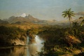Picture landscape, mountain, picture, the volcano, Frederic Edwin Church, A View Of Cotopaxi
