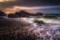 Picture wave, stones, rocks, coast, Scotland, Scotland, Portknockie, Morayshire