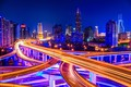 Picture Night, Road, Skyscrapers, Night landscape, The city, Lights, China