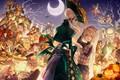 Picture anime, skeleton, Halloween, art, merc storia