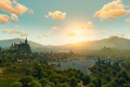 Picture blood and wine, The witcher, sunset