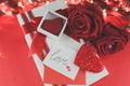Picture red roses, love, roses, valentine's day, romantic, gift, hearts, red