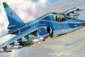Picture Zhirnov, attack, The su-39, Sukhoi, The Russian air force, figure, Su-25TM