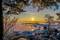 Picture sunset, landscape, The Gulf of Finland, Finland, nature, Kotka, winter