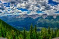 Picture forest, valley, Canada, Banff National Park, HDR, clouds, Albert, trees, mountains, Banff