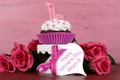 Picture cupcake, cupcake, bow, March 8, roses, cake, heart, red, holiday