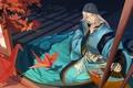 Picture anime, man, asian, japanese, kimono, oriental, asiatic, Onmyouji