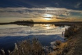 Picture nature, autumn, sunset, lake