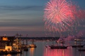 Picture harbour, salute, fireworks, Kiel, Germany, Schleswig-Holstein, ship