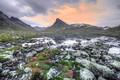 Picture mountains, lake, stones, Norway, Norway, Jotunheimen National Park