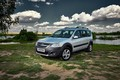 Picture river, Lada Largus, Russian cars, silver, cross, clouds