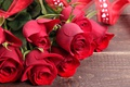 Picture bouquet, red, love, heart, romantic, valentine's day, roses, red roses