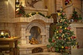 Picture Christmas, fireplace, decoration, New year, holiday, tree, heat