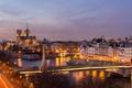 Picture night, bridge, lights, river, France, Paris, backlight, Hay, Paris