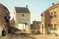 Picture Ian Weissenbruch, City Gate in Leerdam, oil, the urban landscape, picture, canvas